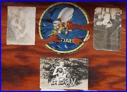 WWII US Navy Seabees Sailor's Trunk with Decorated Inside Pin-ups, Photos, Decal