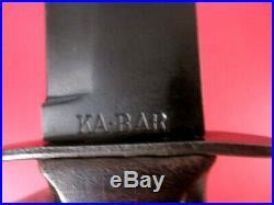WWII USMC USN Mark 2 Fighting Knife Blade Marked Ka-Bar withLeather Scabbard #2