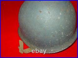 WWII USN Landing Craft M1 Helmet Front Seam, IMP Liner named