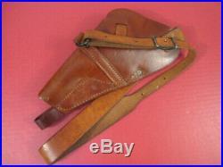 WWII USN M3 Leather Shoulder Holster Marked USN Boyt 44 S&W Victory 38 Revolver