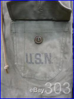 WWII USN Navy Deck Crew N140 Overcoat Coat Parka