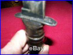 WWII USN Original U. S. MK 2 Camillus Fighting Knife 12 in. With Gray Scabbard
