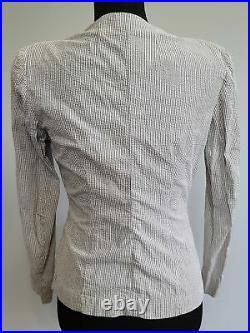 WWII Women's WAVES Seersucker Uniform Jacket US Navy Vintage 1940s Named Female