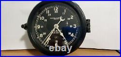WWll U. S. Navy Ship Bakelite Clock Chelsea Clock Co. Boston SER. # 4067 E