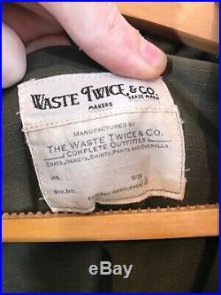 Waste (Twice) Japan Hooded Cotton Smock Deck Jacket 36/Medium USN The Real Mccoy