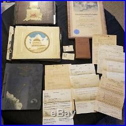 Ww. 2 Usn Pilot. Stanley Oset Personal 3 Photo Albums, Papers, Pilot Certificat
