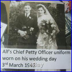 Ww2 Royal Navy Chief Petty Officers, Cap, Jacket, Trousers. Hms Prince Of Wales