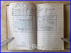 Ww2 Us Navy Aviators Flight Log 1928-37 (33 Autographs) (13 Battle Of Midway)