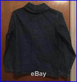 Ww2 Vintage Usn Us Navy Denim Shawl Collar Jacket