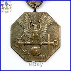Wwii U. S. Navy & Marine Corps Heroism Medal Full Wrap Brooch U. S. Mint Ww2