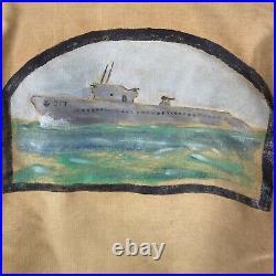 Wwii US Navy Original Painted N-1 Deck Jacket USS Guardfish Submarine